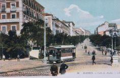 Calle de Atocha, desde la Glorieta del mismo nombre, 1910. Tarjeta postal sobre foto coloreada. Louis Levy.. Museo de Historia (Madrid)