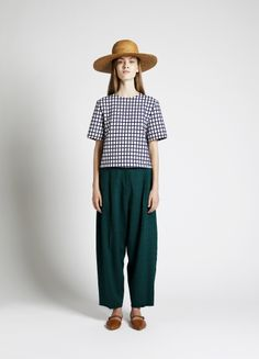 Sun Hat, Lanka Jacket and Lebel Trousers   Samuji SS14 Seasonal Collection