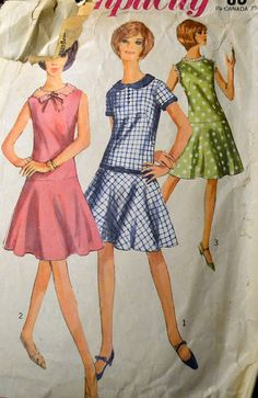 Vintage 1960s Sewing Pattern Simplicity 6341 by GoofingOffSewing, $7.50