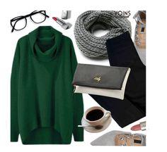 YOINS.com by monmondefou on Polyvore featuring polyvore fashion style J Brand Burberry Ilia clothing GREEN yoins