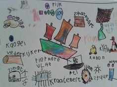 Woordspin over piraten gemaakt in groep 2/3