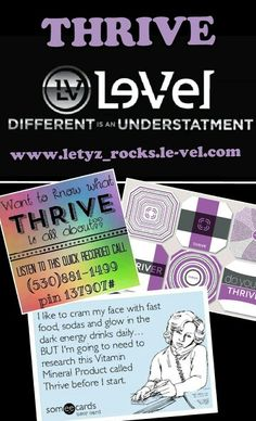 YOU can feel like a whole new person by this time next week!!!! Listen to this prerecorded call & hear for yourself how GREAT THRIVE IS!!! Call, text or message me for more info about THRIVE or to find out how YOU can join our team!!! You can sign-up FREE or place your order @ www.letyz_rocks.le-vel.com