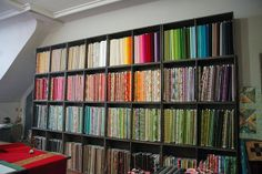 the workroom......wow! I would love to have my sewing room this organized!