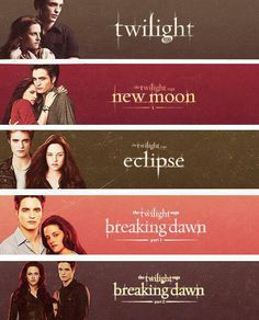 Twilight movies, I want them all on DVD
