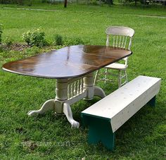 s 13 gorgeous ways to bring your worn kitchen table back to life, kitchen design, painted furniture, Sand it back to natural and stain it darker Diy Furniture Projects, Paint Furniture, Furniture Makeover, Furniture Refinishing, Refurbished Furniture, Flip Furniture, Diy Projects, Furniture Repair, Project Ideas