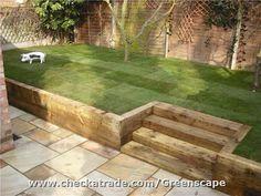 Image result for garden brick steps lawn