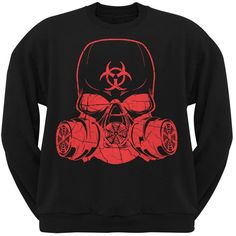 Guerrilla Warfare Bio Hazard Black Adult Crew Neck Sweatshirt