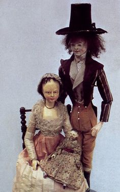 early wooden gentleman and his ladye love