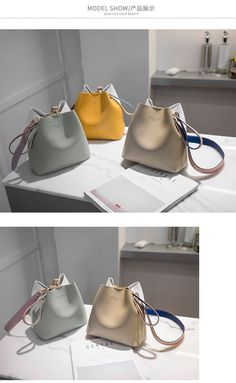 Designer Women Handbags PU Leather Bucket Shoulder Bags Female Larger Capacity Crossbody Messenger Bags Girls From China Best Designer Bags, Bucket Handbags, Handbag Organization, Designer Shoulder Bags, Crossbody Messenger Bag, Girls Bags, Cute Bags, Casual Bags, Fashion Bags