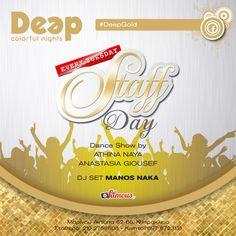 #DeepGold #StaffDay #TuesdayNights με Guest Dancers Athina Naya & Anastasia Bouklitsa Giousef