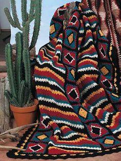 Ravelry: Navajo Diamonds and Stripes by Katherine Eng...free pattern!