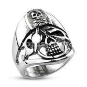 Pirate Skull Captain Cast Ring 316L Stainless Steel