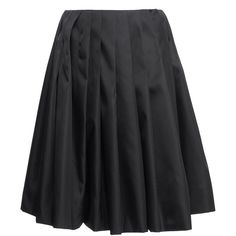 Pleated Skirt | Moda Operandi (€1.104) ❤ liked on Polyvore featuring skirts, pleated skirts, knee length a line skirt, pleated a line skirt, a-line skirts and knee high skirts