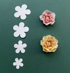 Using the Spellbinders Posy Patch dies...From My Craft Room: Wrinkled Flower Coloured With Distress Ink Tutorial