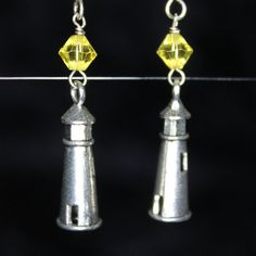 Lighthouse Earrings by CraftySquirrelDesign on Etsy