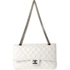 Pre-owned Chanel Shoulder Bag ($2,450) ❤ liked on Polyvore featuring bags, handbags, shoulder bags, purses, chanel, bolsas, accessories, white, apparel & accessories and wallets & cases