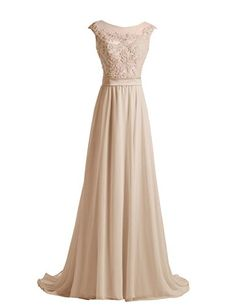 Diyouth Long Lace Flower Scoop Neck Chiffon Prom Dress Train Champagne Size 2 Diyouth http://www.amazon.com/dp/B00QM0MAGO/ref=cm_sw_r_pi_dp_neFXvb00BGZ7B