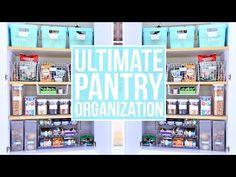 Easy pantry organization home Ideas for 2019 Ikea Pantry, Small Pantry Organization, Kitchen Storage Hacks, Refrigerator Organization, Pantry Shelving, Pantry Storage, Kitchen Pantry, Organization Hacks, Pantry Diy