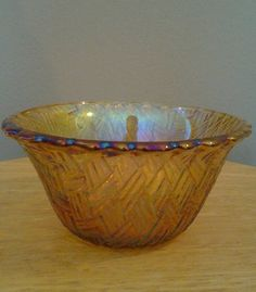 Vintage Small Carnival Glass bowl sherbert dish by streetcrossing