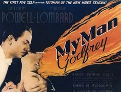 William Powell & Carole Lombard, My Man Godfrey, Gregory La Cava, 1936 Carole Lombard, New Movies, Good Movies, Mr Deeds, Art Through The Ages, William Powell, Old Hollywood Movies, Love Film, Great Films