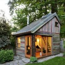 Cozy cabin with a sleeping loft. Perfect for one or two who are into Small House Living