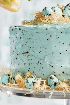 Speckled Malted Coconut Cake   Country Living