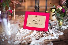 Salon du mariage : Tend'm / © Mya Photography / www.elle-imagine.com mariage indus plan de table