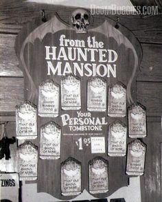 aswingingwake:  Disneyland 1970s- Buy your own personal tombstone!