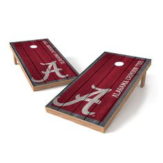 Alabama Crimson Tide 2' x 4' Big Vintage Authentic Tailgate Cornhole Toss Set