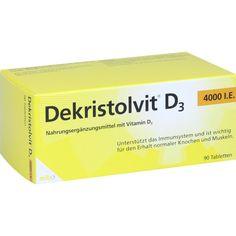 DEKRISTOLVIT D3 4.000 I.E. Tabletten:   Packungsinhalt: 90 St Tabletten PZN: 10818598 Hersteller: MIBE GmbH Arzneimittel Preis: 15,62 EUR…