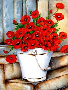 Watercolor poppies by Stella