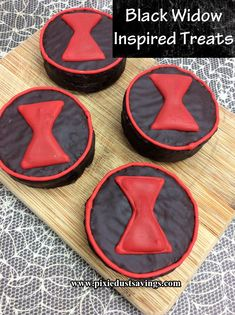 Black Widow Inspired Treats, Marvel Party, Marvel Movie Night, Super Hero Party Source by pixiedustsaving Black Widow Diy, Black Widow Avengers, Avengers Party Foods, 12th Birthday Cake, Next Avengers, Avengers Birthday, Superhero Party, Batman Party, Food Themes
