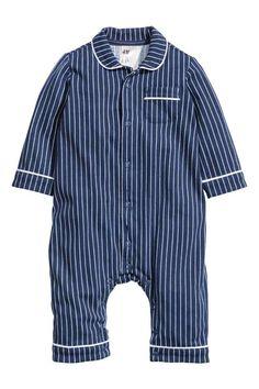Pyjamas - Dark blue/White striped - Kids | H&M 1
