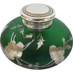 Glass with sterling lid ink well