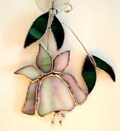 Stained Glass Flower Suncatcher by GlassofDistinction on Etsy, $9.95
