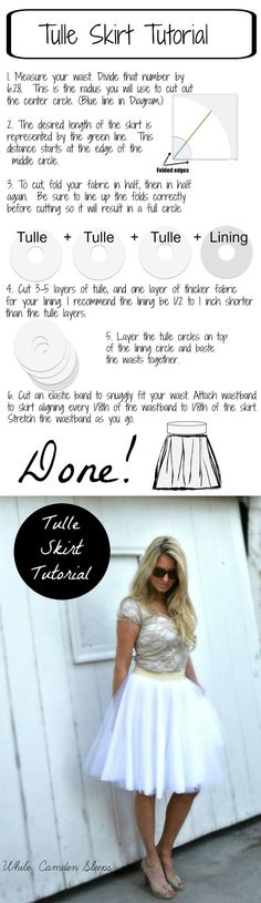 "The Lazy, or ""efficient"" way to make a diy tulle skirt:"