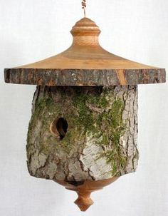 Hollow Log Bird Houses