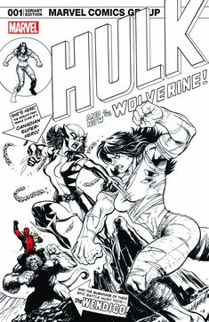 Marvel - Hulk #1 (Cvr B) The Hall of Comics/CBCS Ed McGuinness Exclusive Black, White and Red Sketch Variant