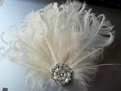 feathery hair fascinator