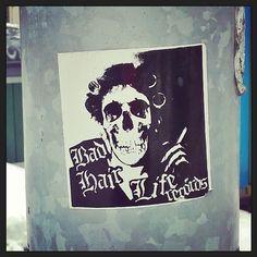 #katutaidetta #tarra #mainos #streetart #sticker #advert #Helsinki 26.2.16 #skull  #skeleton