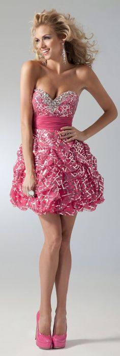 9abaa969f20 Pink and Silver Homecoming Dress 1666