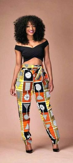 Full high waisted pencil Leg Pants with two side Pockets and approx. Full high waisted pencil Leg Pants with two side Pockets and approximately waist band. African American Fashion, African Fashion Ankara, Ghanaian Fashion, African Inspired Fashion, African Print Dresses, African Print Fashion, Africa Fashion, African Dress, African Prints