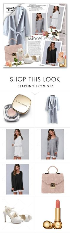 """""""Autumn Lace Lower Hem Casual Dress"""" by astromeria ❤ liked on Polyvore featuring Dolce&Gabbana, Anja, Christian Dior, dress, twinkledeals and twinkledealsdress"""