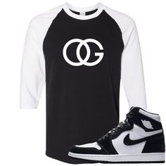 d9e48917288 Jordan 1 Retro High OG WMNS Panda Sneaker Match OG Logo Black and White  Ragalan T-Shirt