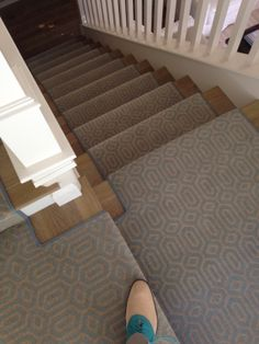 Custom Fabricated Stair Runner For A Client In Costa Mesa, CA. Miro Is Made  Of Nylon And Extremely Durable. Many Other Patterns And Color Options Are  ...