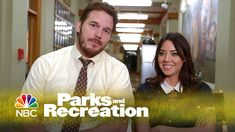 Parks and Recreation - April and Andy (Behind The Scenes) I love them! PLEASE tell me there is a Chris Pratt out there for me haha