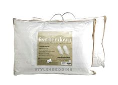 Charter Club 360 Feather Down Chamber STANDARD / QUEEN Pillows Medium Firm #CharterClub