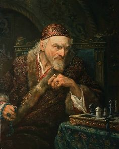 Ivan the Terrible Painting by Russian artist Andrey Shishkin Modern Artists, Contemporary Artists, Pictures Of Russia, Fantasy Art Men, Russian Art, Russian Folk, Vintage Photographs, Beautiful Paintings, Stone Painting
