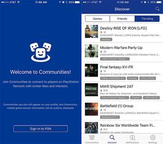 Sony Launches PlayStation Communities App on iOS Android