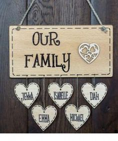 Personalised Wooden Family Name Birthday Mum House Warming gift plaque sign Family Crafts, Gifts For Family, Wood Gifts, Diy Gifts, Wood Projects, Projects To Try, Wood Burning Crafts, Diy Wood Signs, Wooden Plaques